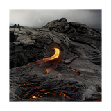 Lava Flowing From Volcano. Giclee Print by Fay Godwin
