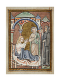 Miniature Of Cuthbert Healing the Wife Of Hildmaer Giclee Print by  Bede