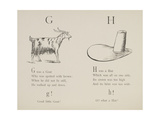 Goat and Hat Illustrations and Verses From Nonsense Alphabets Drawn and Written by Edward Lear. Giclee Print by Edward Lear