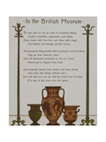 Artifacts in the British Museum. Illustration From London Town' Giclee Print by Thomas Crane