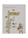 A Singpost To London Town. Illustration From London Town' Giclee Print by Thomas Crane