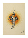 A Smiling Figure in a Stocking Giclee Print by William Denslow