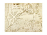 The Geometrical Plan Of the Park and Plantations Of Rookby, in the County Of York. Giclee Print by Paul Fourdrinier