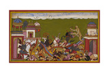 Hanuman Fighting Ravana's Army Giclee Print