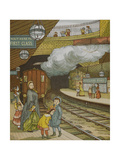 Portland Road. (Later, Great Portland Street) Underground Railway Station Giclee Print by Thomas Crane