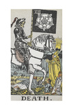 Tarot Card With Death Wearing Armor Giclee Print by Arthur Edward Waite