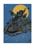 St. Nicholas Riding in His Sleigh, On Christmas Eve Giclee Print by William Denslow