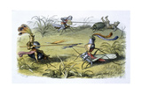 Elf Knights Jousting Giclee Print
