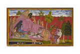 Bibishana Before Rama and Lakshmana Giclee Print