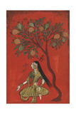 A Maiden Seated Beneath a Pomergranate Tree Reproduction procédé giclée