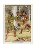 Robin Hood and Guy Of Gisborne Giclee Print