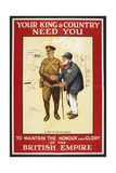 Your King and Country Need You ...' a Recruitment Poster Giclee Print