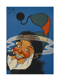 St. Nicholas (Father Christmas) Smoking a Pipe. Giclee Print by William Denslow