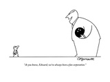 """As you know, Edward, we've always been a fun corporation.""  - New Yorker Cartoon Premium Giclee Print by Charles Barsotti"