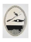 A Boy On a Broomstick Lámina giclée por Harry Clarke