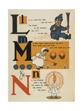 Alphabet Page: Little Boy Blue. Miss Mary. Nan Etticote Giclee Print by William Denslow