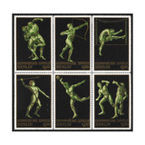 Stamps Marking Germany 1916 Berlin Olympic Games, With Various Events Represented Reproduction procédé giclée