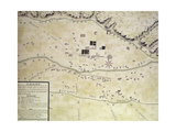 Plan Of Santa Fe Giclee Print