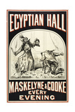 Maskelyne and Cooke at the Egyptian Hall, C. 1880. Egyptian Hall. Man Severing Another Man's Head Giclee Print by Henry Evanion