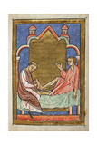 A Paralytic Is Healed by Contact With One Of St. Cuthbert's Shoes Giclee Print by  Bede
