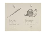 Quill and Rattlesnake From Nonsense Alphabets Drawn and Written by Edward Lear. Giclee Print by Edward Lear