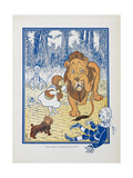 You Ought To Be Ashamed Of Yourself !. the The Cowardly Lion Being Rebuked by Dorothy Giclee Print by William Denslow