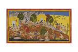 News Of the Death Of Dasaratha Giclee Print