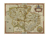 Map Of Montgomeryshire and Merionethshire Giclee Print by Christopher Saxton