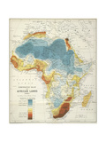 Map Of Africa Giclee Print