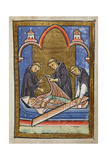 Miniature Of the Opening Of Cuthbert's Tomb in 698 Giclee Print by  Bede