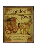A Coach and Horses. Illustration From London Town' Giclee Print by Thomas Crane