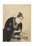 Kabuki Actor Writing On a Fan Giclee Print by Toyokuni Utagawa