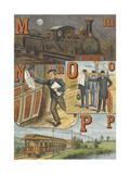 Alphabet: M For Midnight Mail and Moonlight, N For Newsboy, O For Officials, P For Pullman's Car Giclee Print