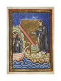 Chaper 21. Cuthbert Discovers the Piece Of Timber Washed Up With the Tide Giclee Print by  Bede