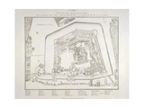 Plan Of the Tower Of London Giclee Print