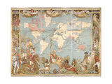 British Empire Map Giclee Print
