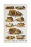 Assorted Roast Meats Including Pork, Mutton and Beef Giclee Print by Isabella Beeton