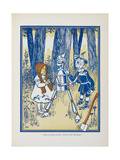 Dorothy, the Tin Woodman and the Scarecrow Giclee Print by William Denslow