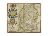 Map Of Wiltshire Giclee Print by Christopher Saxton