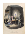 Marley's Ghost. Ebenezer Scrooge Visited by a Ghost Giclee Print by John Leech
