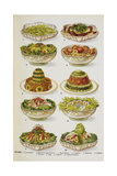 Assorted Salad Dishes Giclee Print by Isabella Beeton
