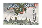 Flying Dragon Giclee Print by Chuta Ito
