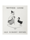 Mother Goose. Old Lady With Goose Giclee Print by Arthur Rackham