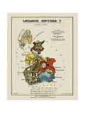 Map Of Lancashire Represented As Red Riding Hood, Her Grandmother and the Wolf. Giclee Print by Lilian Lancaster
