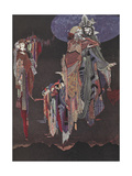 Monas and Una Gicleetryck av Harry Clarke