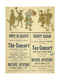 A Poster Advertising a Charity Bazaar and Tea Concert in Aid Of the Liberation Of French Lorraine Giclee Print