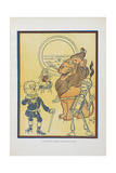 """I Fell Wise, Indeed,' Said the Scarecrow."" Giclee Print by William Denslow"