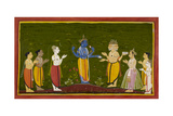 The Gods Approach Vishnu Giclee Print