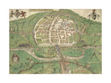 Map Of Exeter Giclee Print by Remigius Hogenberg