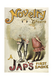 Novelty Theatre, Holborn. a Jap's First Smoke, 1885. Giclee Print by Henry Evanion